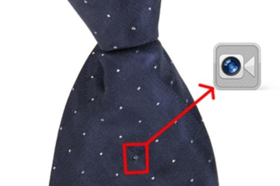 Микронаушник галстук с камерой