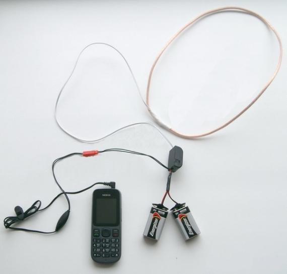 Использование проводного микронаушника