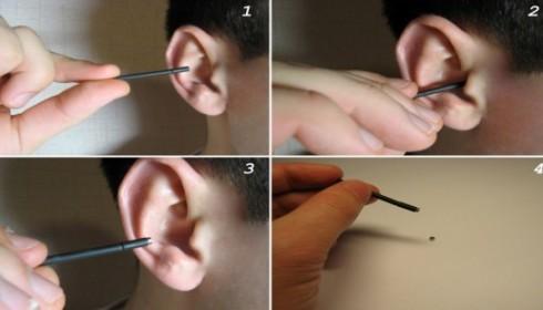 Как достать микронаушник магнит из уха